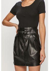 Czarna spódnica only casualowa, na co dzień, z podwyższonym stanem