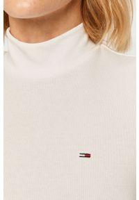 Biała bluzka z długim rękawem Tommy Jeans casualowa, na co dzień