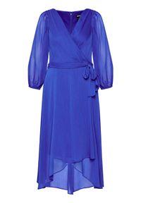 DKNY Sukienka koktajlowa DD0DI570 Granatowy Regular Fit. Kolor: niebieski. Styl: wizytowy