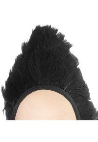 Stuart Weitzman - Półbuty STUART WEITZMAN - Feathery XL17447 Black/Silk/Satin. Kolor: czarny. Materiał: materiał. Szerokość cholewki: normalna. Wzór: aplikacja. Obcas: na płaskiej podeszwie