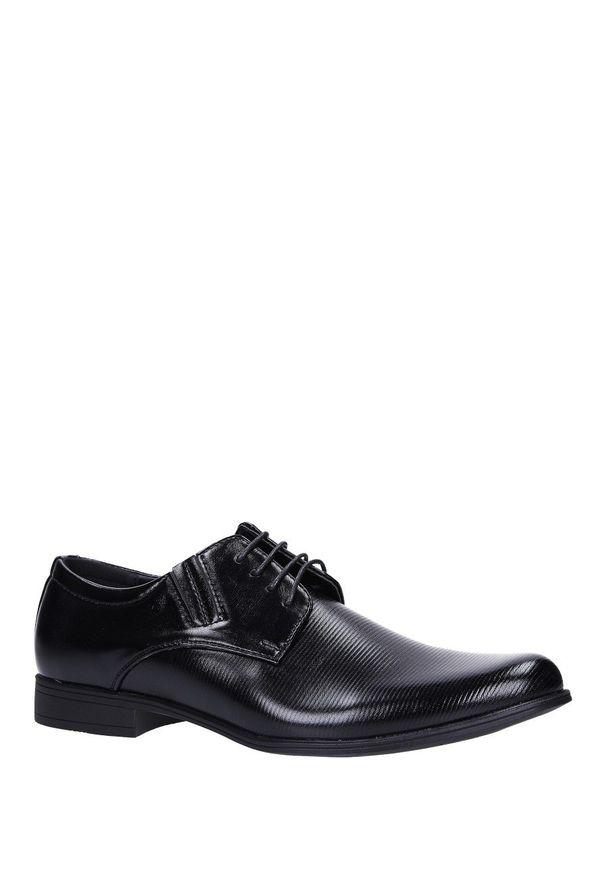Czarne buty wizytowe Casu wizytowe