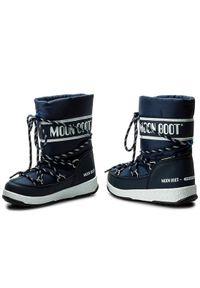 Niebieskie śniegowce Moon Boot sportowe