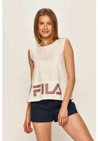 Biała piżama Fila z nadrukiem
