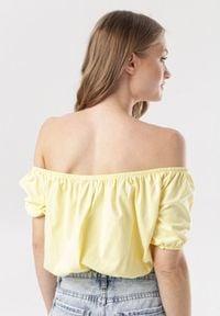Born2be - Żółta Bluzka Corilirea. Kolor: żółty