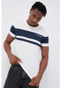 Tom Tailor - T-shirt bawełniany. Okazja: na co dzień. Kolor: biały. Materiał: bawełna. Wzór: nadruk. Styl: casual