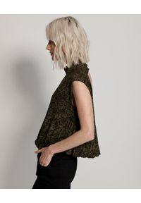 ONETEASPOON - Bluzka w cętki z dekoltem na plecach. Kolor: czarny. Materiał: jeans, bawełna, wiskoza. Długość rękawa: bez ramiączek