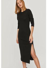 Czarna sukienka Answear Lab na co dzień, midi