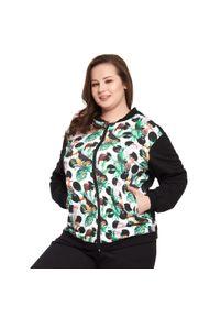 Bluza Moda Size Plus Iwanek do pracy, ze stójką, na wiosnę