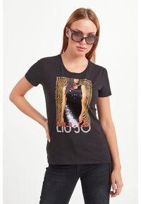 T-shirt Liu Jo casualowy, na co dzień, w kolorowe wzory