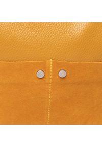 Żółta torebka klasyczna QUAZI klasyczna, zamszowa