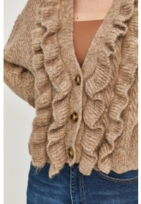 Beżowy sweter Answear Lab wakacyjny, krótki, gładki
