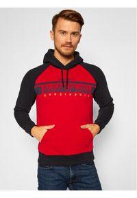 Napapijri Bluza Brilo H NP0A4ENB Czerwony Regular Fit. Kolor: czerwony