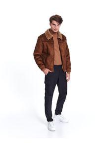 Szare spodnie TOP SECRET eleganckie, na zimę