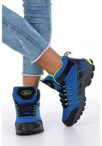 Casu - niebieskie buty trekkingowe sznurowane softshell casu b1530-2. Kolor: niebieski. Materiał: softshell