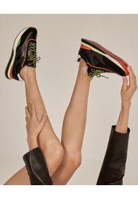 HOFF - Skórzane sneakersy Hermitage. Kolor: czarny. Materiał: skóra. Szerokość cholewki: normalna. Wzór: nadruk. Sezon: jesień