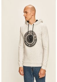 Szara bluza nierozpinana Jack & Jones z kapturem, casualowa