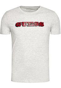 Guess T-Shirt M1RI82 J1311 Szary Slim Fit. Kolor: szary