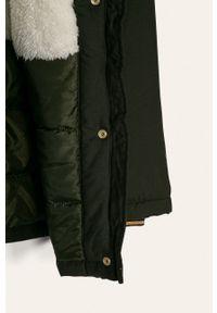 Zielona kurtka Name it na co dzień, z kapturem, casualowa