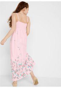 Długa sukienka dziewczęca bonprix bladoróżowy. Kolor: różowy. Długość: maxi #5