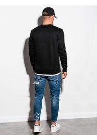 Czarna bluza Ombre Clothing klasyczna, bez kaptura, na co dzień