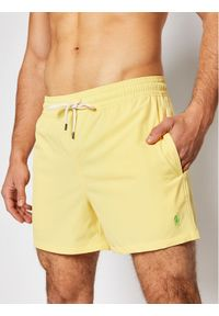 Polo Ralph Lauren Szorty kąpielowe Traveler 710837404 Żółty Slim Fit. Kolor: żółty
