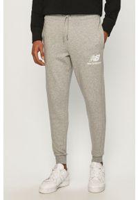 Szare spodnie dresowe New Balance gładkie