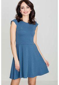 Niebieska sukienka wizytowa Katrus