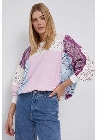 Wrangler - Bluza bawełniana. Materiał: bawełna. Długość rękawa: raglanowy rękaw