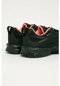 Czarne buty sportowe Reebok na obcasie, na średnim obcasie, Gore-Tex, z cholewką