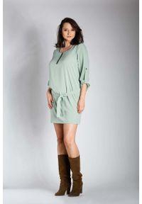 Zielona sukienka wizytowa Nommo dla puszystych, plus size