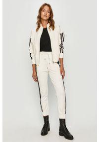 Biała bluza rozpinana TwinSet bez kaptura