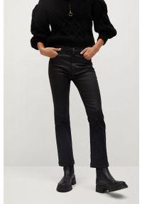 Czarne jeansy mango z podwyższonym stanem