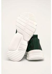 Zielone buty sportowe Desigual Sport na obcasie, z cholewką, na średnim obcasie