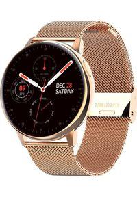 Smartwatch Pacific 24-12 Różowe złoto (PACIFIC 24-12 różowo złota siatka). Rodzaj zegarka: smartwatch. Kolor: złoty, różowy, wielokolorowy