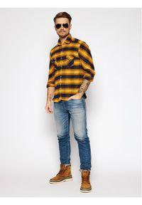 Rage Age Koszula Loading 2 Żółty Slim Fit. Kolor: żółty