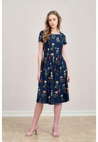 Marie Zélie - Sukienka Melania Angelica. Materiał: bawełna, wiskoza, tkanina, materiał. Długość rękawa: krótki rękaw