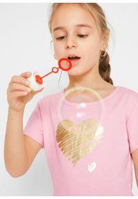 Sukienka dziewczęca z dżerseju, krótki rękaw (2 szt.) bonprix pudrowy jasnoróżowy + jasnoszary melanż. Kolor: różowy. Materiał: jersey. Długość rękawa: krótki rękaw. Wzór: melanż #4