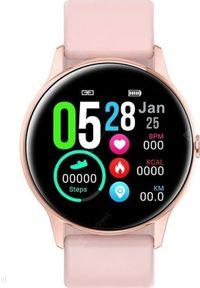 Smartwatch Pacific 01 Różowy (14512-uniw). Rodzaj zegarka: smartwatch. Kolor: różowy
