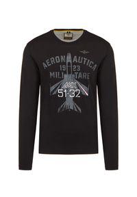 T-shirt Aeronautica Militare casualowy, z długim rękawem, moro