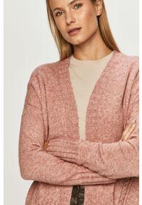 Różowy sweter rozpinany only na co dzień, casualowy