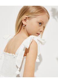ZIMMERMANN KIDS - Biała sukienka z haftem 0-10 lat. Kolor: biały. Materiał: bawełna. Długość rękawa: na ramiączkach. Wzór: haft. Sezon: lato #4