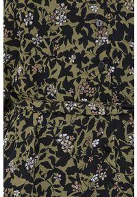 only - Only - Sukienka. Kolor: zielony. Materiał: tkanina, poliester. Długość rękawa: długi rękaw