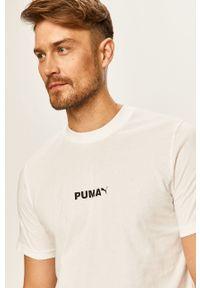 Biały t-shirt Puma casualowy, z nadrukiem