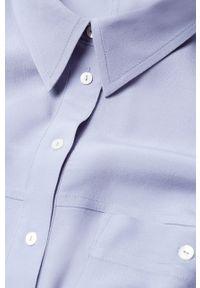Niebieska koszula mango długa, z klasycznym kołnierzykiem