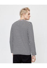 COMME DES GARCONS PLAY - Koszulka w paski z sercem. Kolor: czarny. Materiał: bawełna, jeans. Długość rękawa: długi rękaw. Długość: długie. Wzór: paski. Styl: klasyczny #4