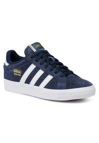 Niebieskie półbuty casual Adidas z cholewką, na co dzień