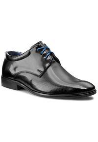 Czarne buty komunijne Tim z cholewką