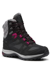 Czarne buty trekkingowe salomon trekkingowe, z cholewką, Gore-Tex