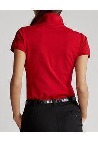 Ralph Lauren - RALPH LAUREN - Koszulka polo Slim Fit. Typ kołnierza: polo. Kolor: czerwony. Materiał: bawełna, prążkowany. Wzór: haft. Styl: klasyczny #2