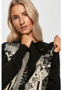 Czarny sweter rozpinany Desigual na co dzień, casualowy
